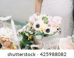 wedding table floral decoration   Shutterstock . vector #425988082