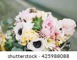 wedding table floral decoration   Shutterstock . vector #425988088