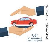 hands male insurance agent... | Shutterstock .eps vector #425988142