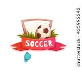 soccer banner with football... | Shutterstock .eps vector #425993242