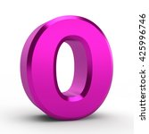 o pink alphabet word on white... | Shutterstock . vector #425996746