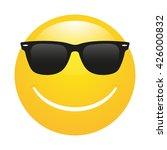 smiley emoticon  in sunglasses   Shutterstock .eps vector #426000832