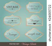 set of vintage labels | Shutterstock .eps vector #426005722