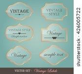 set of vintage labels on blue... | Shutterstock .eps vector #426005722