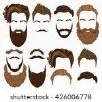 man hair  mustache  beards... | Shutterstock .eps vector #426006778