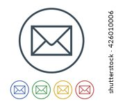 email icon isolated on white... | Shutterstock .eps vector #426010006