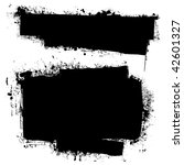 black ink banners with grunge... | Shutterstock . vector #42601327