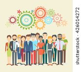set of business people ... | Shutterstock .eps vector #426014272