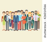 set of business people ... | Shutterstock .eps vector #426014566