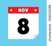 calendar icon flat november 8