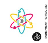 atom logo. colorful physics... | Shutterstock .eps vector #426027682