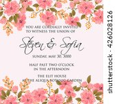 invitation or wedding card with ... | Shutterstock .eps vector #426028126