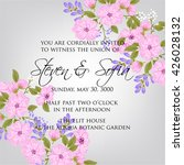 invitation or wedding card with ... | Shutterstock .eps vector #426028132
