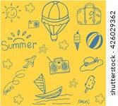 yellow backgrounds summer... | Shutterstock .eps vector #426029362
