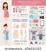 preparation for childbirth.... | Shutterstock .eps vector #426031252