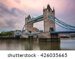 tower bridge and river thames... | Shutterstock . vector #426035665
