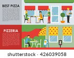 best pizza and pizzeria flat ...   Shutterstock .eps vector #426039058