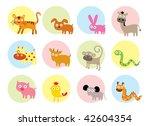animals horoscope doodle | Shutterstock .eps vector #42604354