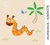 cute dragon greeting card | Shutterstock .eps vector #42604378