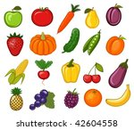 vegetables and fruit | Shutterstock .eps vector #42604558