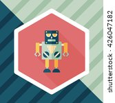 robot flat icon with long...   Shutterstock .eps vector #426047182
