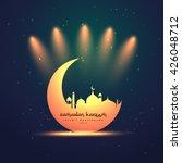 ramadan kareem festival greeting | Shutterstock .eps vector #426048712