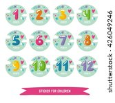 children sticker month.  | Shutterstock .eps vector #426049246