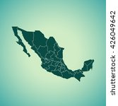 map of mexico | Shutterstock .eps vector #426049642