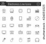 25 electronics line icons ... | Shutterstock .eps vector #426051025