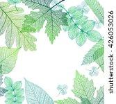 leaf green background. vector ...   Shutterstock .eps vector #426053026