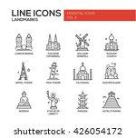 vector line design icons ... | Shutterstock .eps vector #426054172