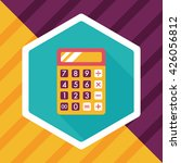 calculator flat icon with long... | Shutterstock .eps vector #426056812
