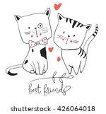 cute cat illustration set 2  | Shutterstock .eps vector #426064018