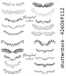 vintage set of hand drawn... | Shutterstock . vector #426069112