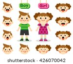 cartoon boy and girl characters ... | Shutterstock .eps vector #426070042
