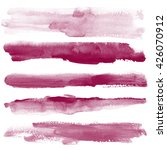 set watercolor blobs  isolated... | Shutterstock . vector #426070912