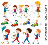 children in the band and doing... | Shutterstock .eps vector #426073345