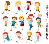 simple characters of kids... | Shutterstock .eps vector #426073468