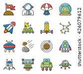 icon set space vector | Shutterstock .eps vector #426079612