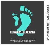 happy father's day  vector... | Shutterstock .eps vector #426080566