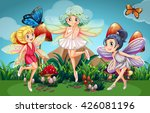 Fairies Flying In The Garden...