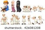 muslim people in different...   Shutterstock .eps vector #426081208
