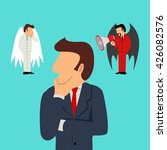 simple cartoon of a businessman ...   Shutterstock . vector #426082576
