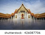 landmark the marble temple  wat ... | Shutterstock . vector #426087706