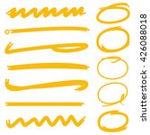 yellow underlines and circle... | Shutterstock .eps vector #426088018