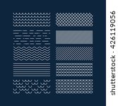 nautical textures collection.... | Shutterstock .eps vector #426119056