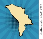 retro map of moldova. stylized... | Shutterstock .eps vector #426119992
