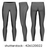 women's full length compression ... | Shutterstock .eps vector #426120022