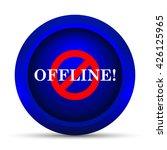 offline icon. internet button... | Shutterstock . vector #426125965