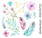 set of hand painted watercolor... | Shutterstock . vector #426126715